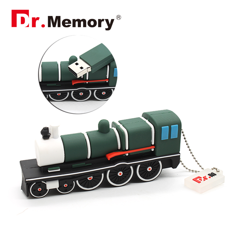 Pendrive Train USB Flash Drive Mini Train USB Stick 4gb 8gb 16gb 32gb Pen Drive Boy Gift Flash Card