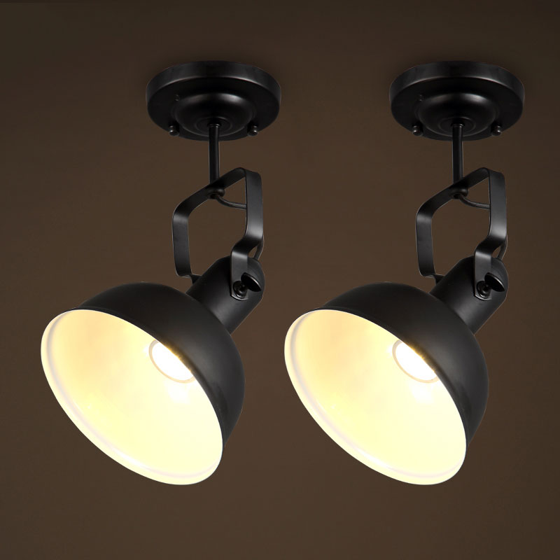 ФОТО 1 piece loft ceiling light,retro vintage lamps for cafe restaurant dining room bar club bedroom living room shop balcony lights