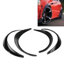 Высокое качество 4 шт. автомобиля крыло вспышки арки колеса брови протектор Наклейка брызговиков Универсальный черный/углеродное волокно