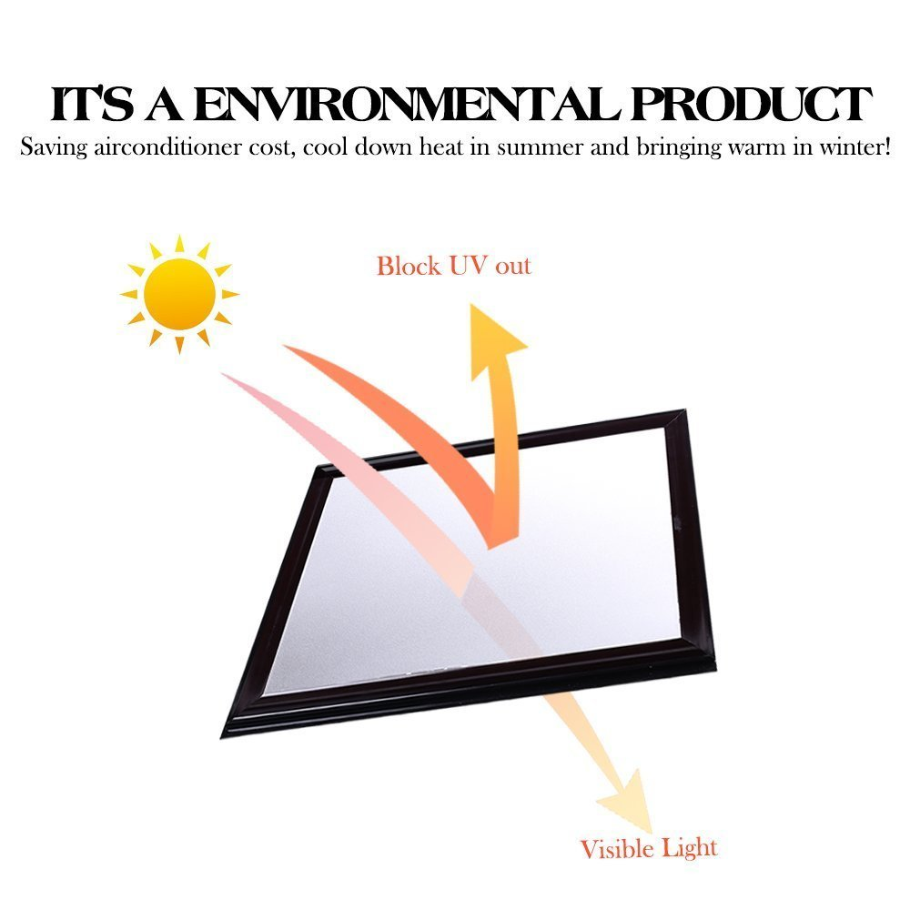 1.52x30m Waterproof PVC Window Film Privacy Vinyl Sticker Glass Film Frosted Window Sticker Home Office Sticker