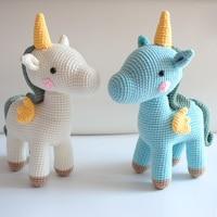 Cute Baby Girls Boys Photography Prop Photo Crochet Knit Toy Cute Little unicorn crochet Stuffed animals Handmade Knitted Toy