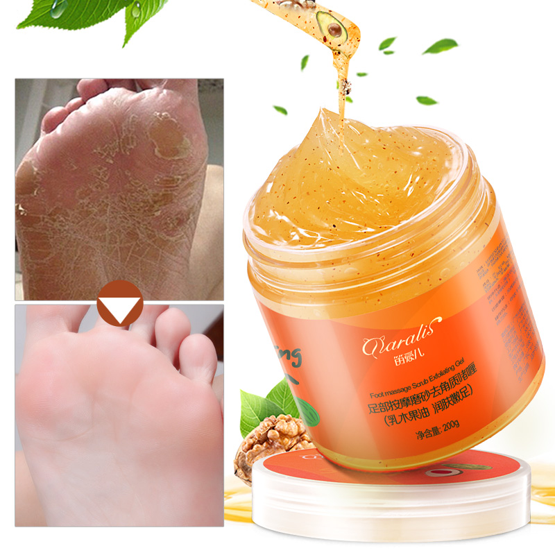 200g Shea Butter Foot Massage Exfoliating Scrub Feet Cream Peeling Dead Skin Calluses Pedicure Whitening for Foot Skin Care Wax vatimin oil extract foot bath skin care calluses removing skin smooth foot bath salt 300g free shipping