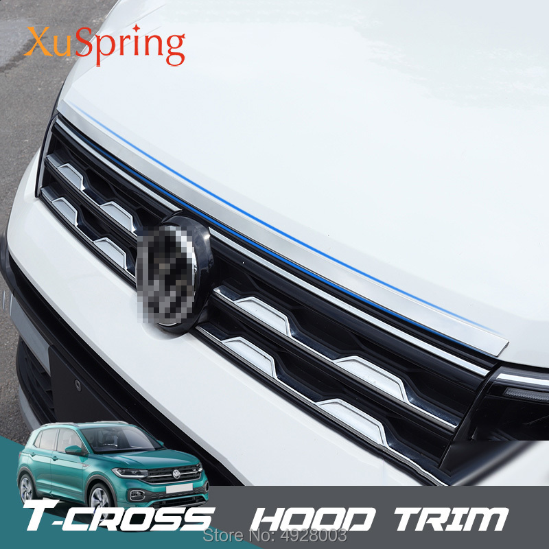 Stainless Steel Front Hood Cover Trim 1pcs For VW Jetta MK6 2012-2018