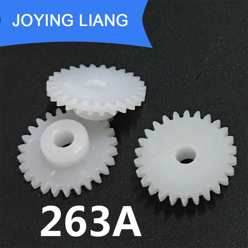263A 0.5M 26 Teeth 3mm Shaft Tight Pom Plastic Pinion Gear Toy Model Gear (5000pcs/lot)