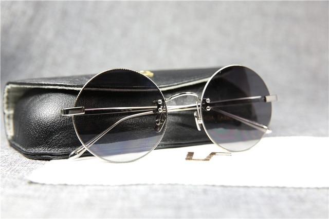 7b84565687 linda farrow round sunglasses LFL18K03 pure titanium frame 18K gold plated  men women fashion style ultralight rimless frame