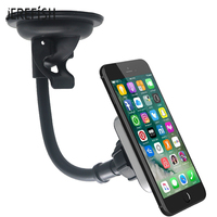 Magnetic Windshield Car Phone Holder Strong Suction Cup Magnet Car Holder Free Hand Display Rotatable Car Cell Phone Mount|Phone Holders & Stands|   -