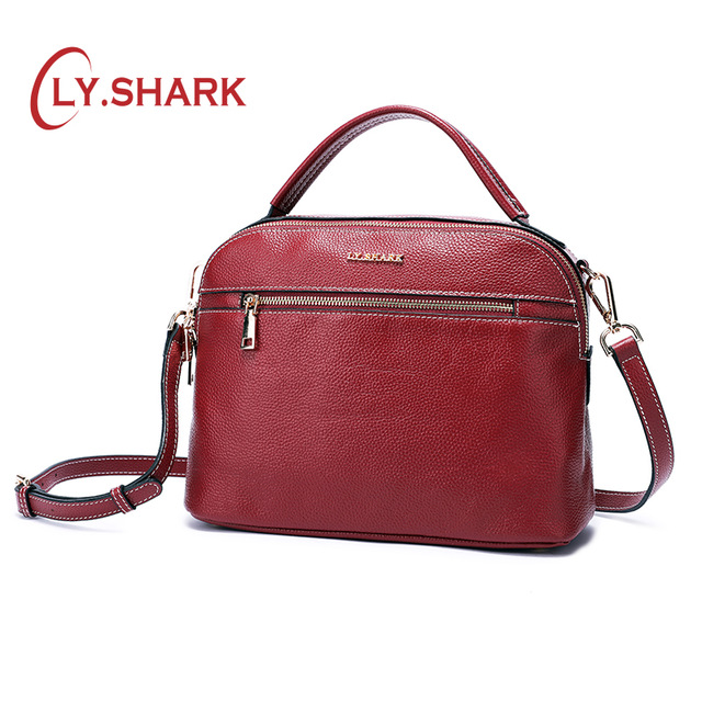 LY.SHARK messenger bag women shoulder bag handbag female bag ladies genuine leather crossbody bags for women 2018 famous brand ladies genuine leather bag women messenger bags handbags women famous brands crossbody bags for women shoulder bag big