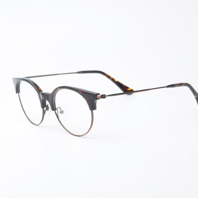 1d87ad40663077 Viewnice Lunette de vue Spectacle Lunettes Cadre Clair Femmes Rétro Ronde  lunettes Petit Acétate Cadre Anti