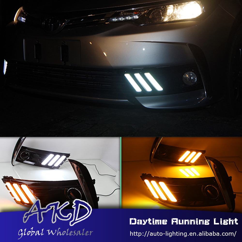 AKD Car Styling for Toyota Corolla Altil 2017 LED DRL for New Corolla Front Led Drl Running Light Fog Light Parking Accessories akd car styling for kia sportage r drl 2014 new sportager led drl korea design led running light fog light parking accessories