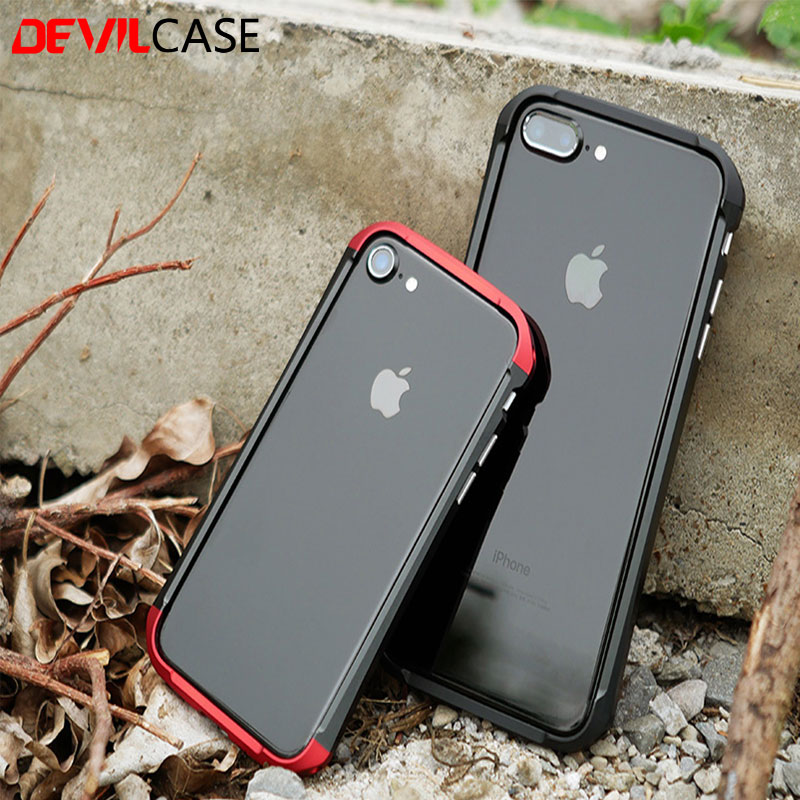 DEVILCASE For iPhone 7 7Plus New TYPE X Bumper Frame Anti Knock Casing Aluminum Plastic Hybrid