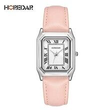 HOREDAR Classic Watches Women Vintage Roma Scale Casual Quartz Watch Ladies Fashion Luxury Brand Wristwatch Female Clock
