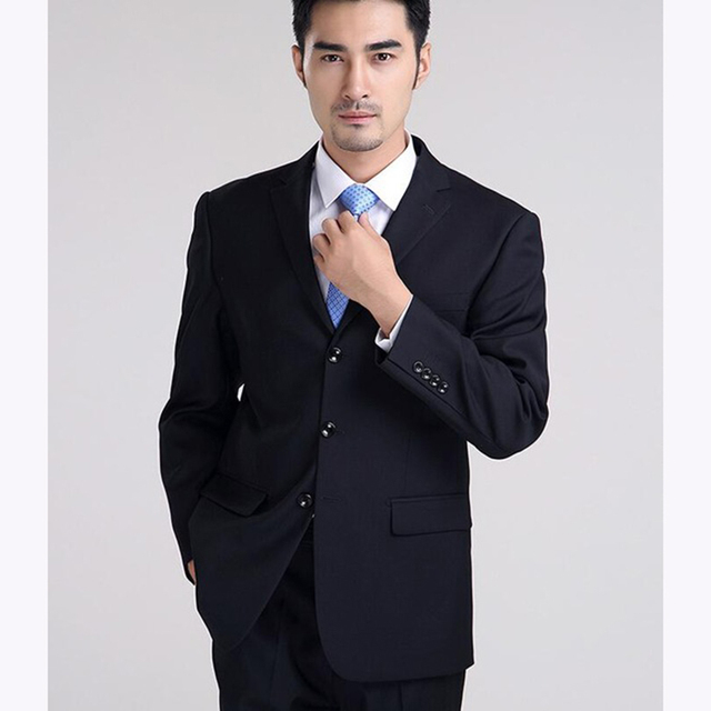 Men\'s suit business casual fashion formal occasions black wedding ...