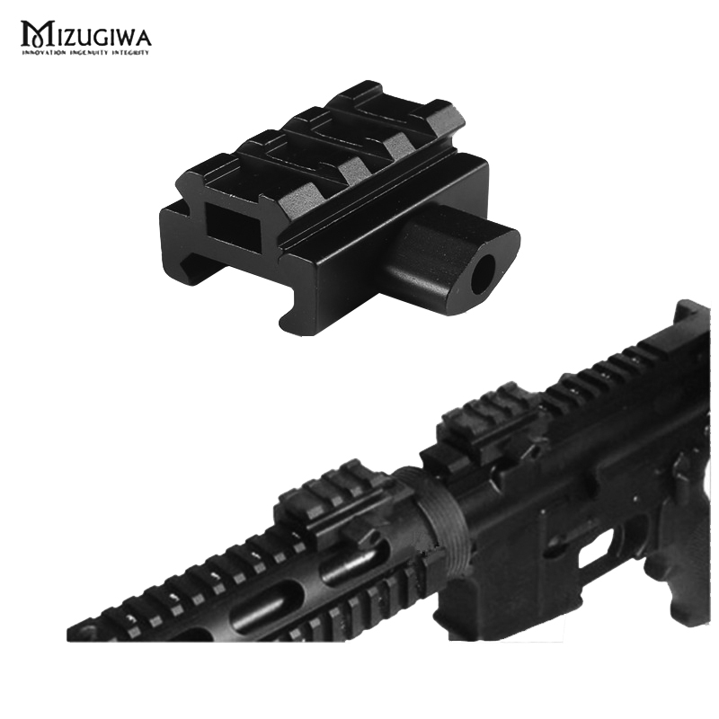 1PC Mini Quick Release Low Profile Riser Scope Rail Mount With 4 Slots Riflescope Weaver Extend 20mm Dovetail Extend Rise Mount