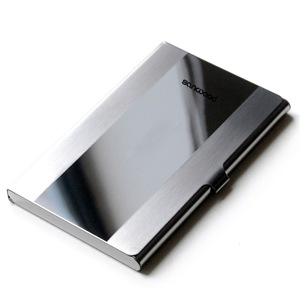 2016 New Arrival Waterproof Stainless Steel Case Pocket Box Business ID Credit Card Holder Cover Birthaday Gifts BV3U business card holder women vogue thumb slide out stainless steel pocket id credit card holder case men