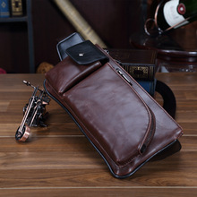 Vintage PU Leather Male Chest Bag Business Affairs Chest Pack Men Messenger Bags Sling Bag Men's Motorcycle Bag for Mobile Phone kangaroo brand messenger bag leather men chest bag vintage crossbody shoulder bag men business sling bags male casual chest pack