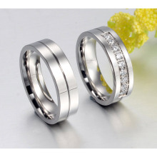 Stainless Steel Couple Wedding Engagement Rings