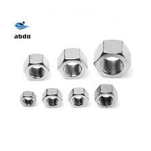 GB6170 304 acier inoxydable 4.8, hexagone épais tuercas M3 M4 M5 M6 M8 M10 M12 M14 M16 M20 M24 M22