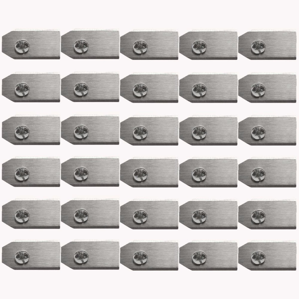 0.75MM Stainless Steel Lawn Mower Blade Replacement + Screw Parts For Husqvarna Automower 30/50/100pcs