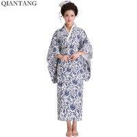 Hot Sale Fashion Women Kimono Yukata Haori With Obi Japanese Style Evening Party Dress Asian Clothing Flower One Size HW042