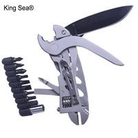 King Sea Outdoor Multi Tool Crimping Pliers Pocket Knife Screwdriver Set Kit Adjustable Wrench Jaw Spanner