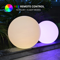 Dia50cm 16 Color LED Ball Lamp Indoor Outdoor Waterproof Rechargeable LED Sphere Night Glowing Decoration Light + Remote Control