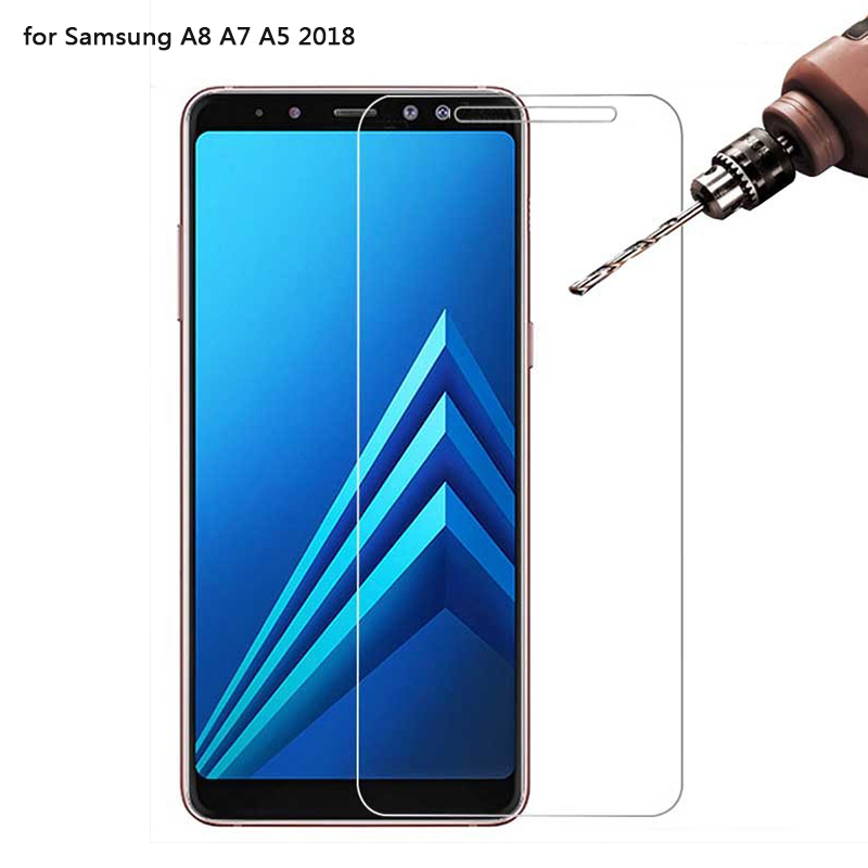 0 26mm 9H 2 5D For Samsung Galaxy A8 A7 2018 Tempered Glass for Samsung A5 2018 Screen Protector for Samsung A8 plus 2018 Film in Phone Screen Protectors from Cellphones Telecommunications