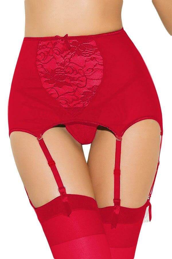 dd8d59ba1c0 Red White Black Mesh Lace Plus Size Garter Underwear Sexy Lingerie Set  Suspender Belt +G string Garter Panties XL XXL XXXL XXXXL-in Garters from  Underwear ...