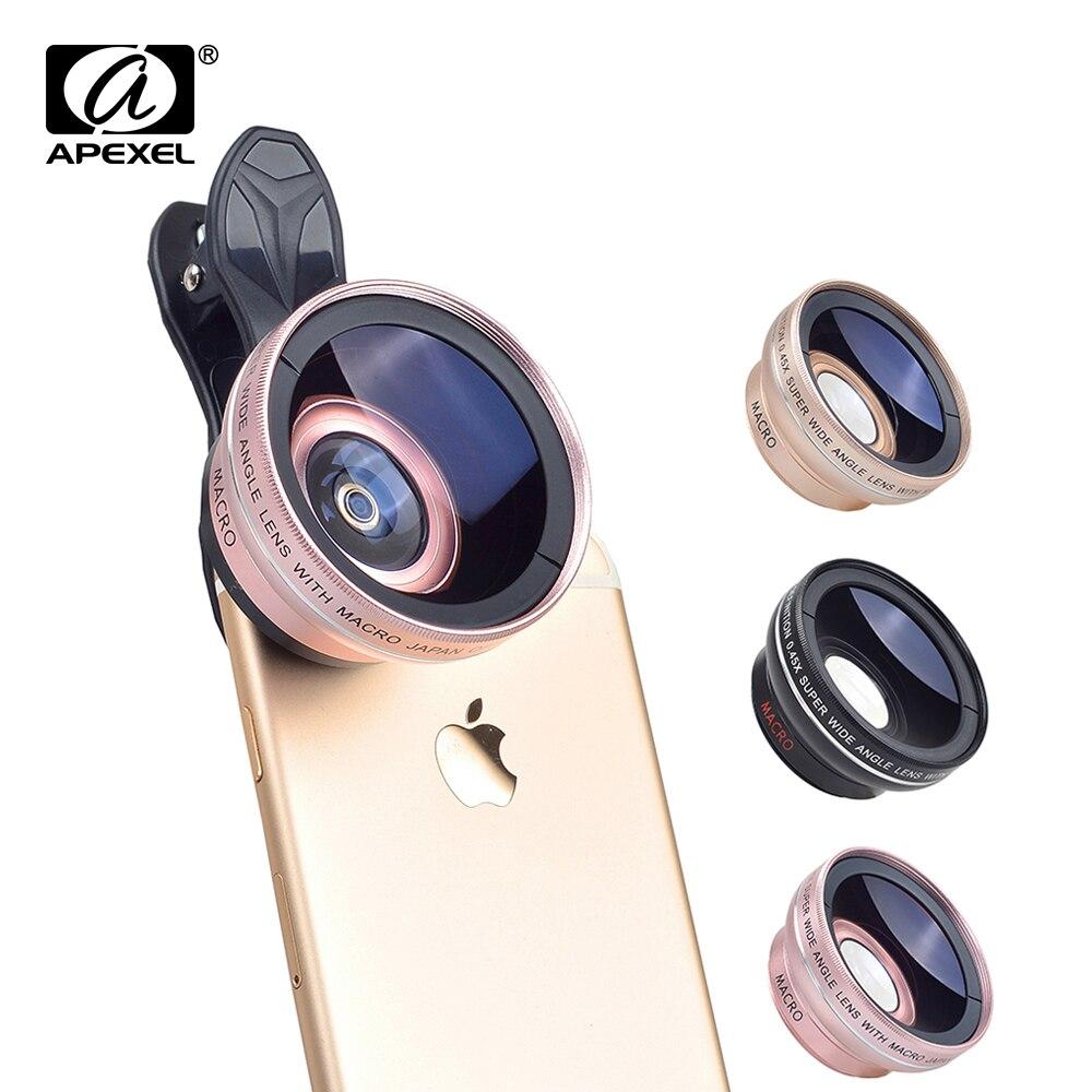 imágenes para Nuevo HD 37 MM Súper Lente Gran Angular 0.45x con 12.5x Lente Macro para iphone 6 plus 5s 4s samsung s6 s5 nota 4 lente de la cámara Kit