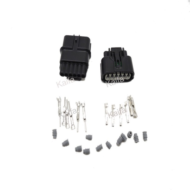 10 sets 6 pin 1.2mm Auto male Electrical waterproof Wire connector ...