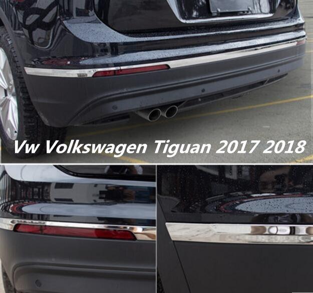 JIOYNG Car stainless steel Rear door tailgate frame Bottom trunk plate trim hoods Fit For Vw Volkswagen Tiguan 2017 2018-in Chromium Styling from ... & JIOYNG Car stainless steel Rear door tailgate frame Bottom trunk ...