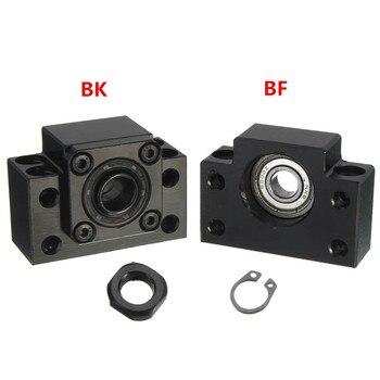 BF12 + BK12 Varilla De Rosca De Acero Al Carbono Soporte Para Extremos De Husillo De Bolas Base De Bloque De Rodamiento Para Tornillo De Bola SFU1605 CNC XYZ Partes