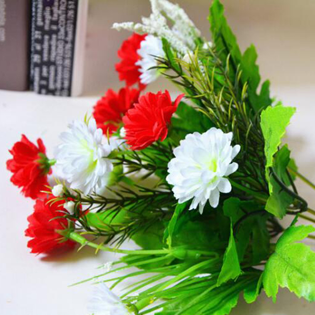 Great Artificial Carnations Flowers 5 Branches 10 Flowers Bouquet ...