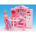 Dreamy Rosa Cozinha Móveis em miniatura para Casa de Bonecas Barbie Brinquedos Clássicos para a Menina Frete Grátis