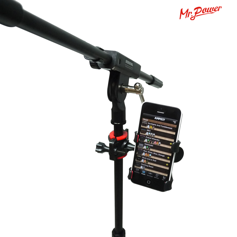 Universal Music Sheet Stand Microphone Mic Stand Phone Holder For IPhone Samsung Smart Phones Look The Musical Sheet New 46 Z