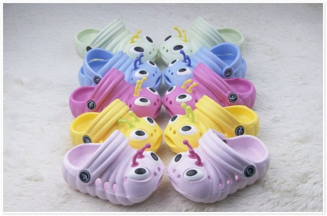 Wholesale 12 pairs/lot 2014 Hot Garden shoes, children caterpillars tunnel for shoes, sandals and slippers free shipping