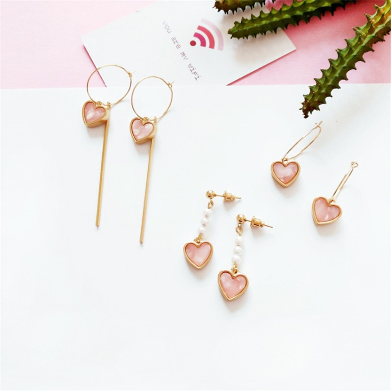 Retro Creative Korean Temperament Simple Wild Earrings Wood Geometric Round Earrings Jewelry Ear Clip Female