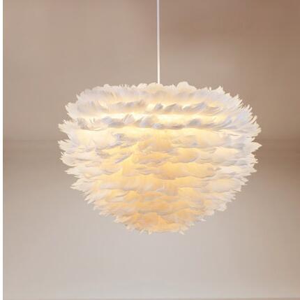 LED Flower drop wind droplight foyer bedroom dinning living room Modern feather chandelier white fashion chandelier hanging lamp цена 2017