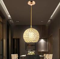 Single Head 3w AC85 265v modern crystal pendant light lustres pendentes home decor fixture lighting Dia15cm crystal lamp