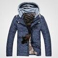 Hombres chaqueta de invierno 2016 de down jacket parka abajo a sección corta de tapa desmontable por la chaqueta ocasional de los hombres de moda chaquetas de los hombres t