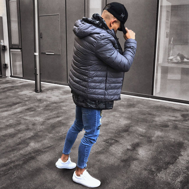 2018 Fashion Mens Jeans Fortnite Skinny Rip Slim Stretch Denim Distress Frayed Biker Jeans Boys Embroidered Pencil Trousers 2