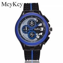 dfce713d3b5 Hot Sale Mcykcy Homens Populares Da Marca de Silicone Relógios de Luxo Quartz  Relógio de Pulso Simples Casual Do Esporte Dos Hom.