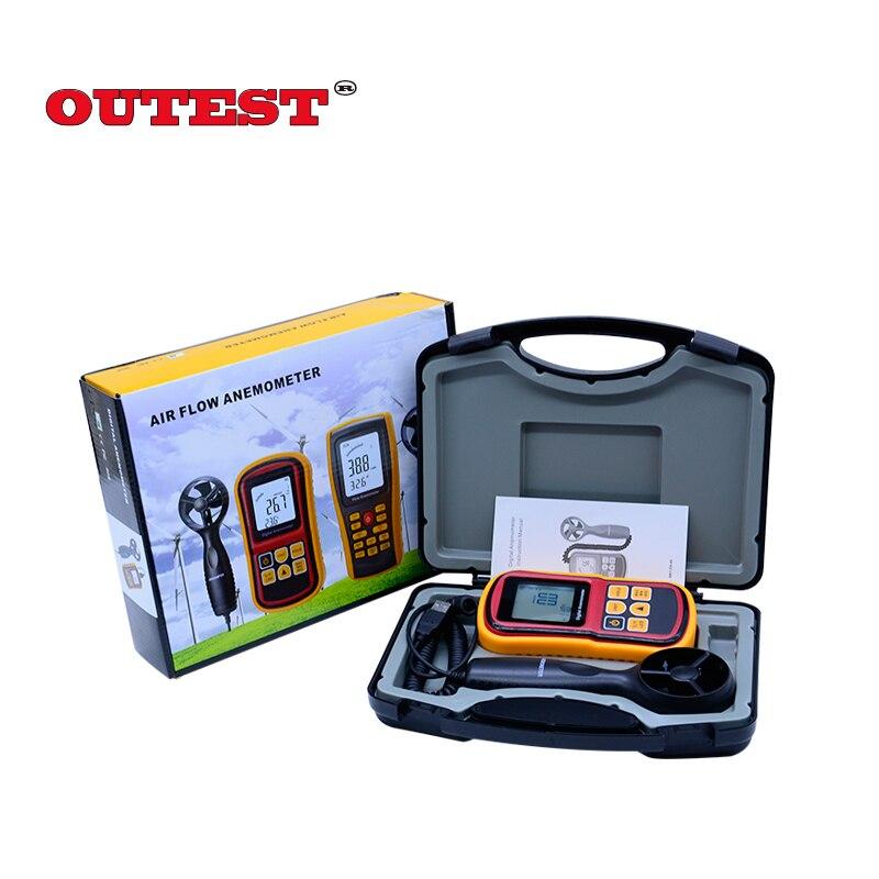 GM8901 anémomètre à main 45 m/s (88MPH) LCD thermomètre numérique électronique à main jauge de vitesse du vent