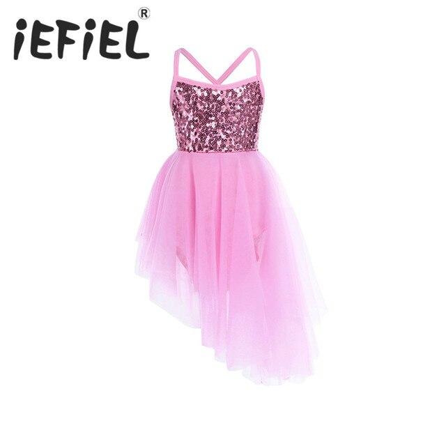 IEFiEL/Блестки подарок вечерние праздничный костюм Косплэй девочек балетное платье-пачка бальных танцев купальник сцена Танцы платье