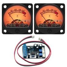 2pcs DB Level AC Voltmeter VU Meter w/Backlight Power Supply Module & 1pc TA7318P Driver Board