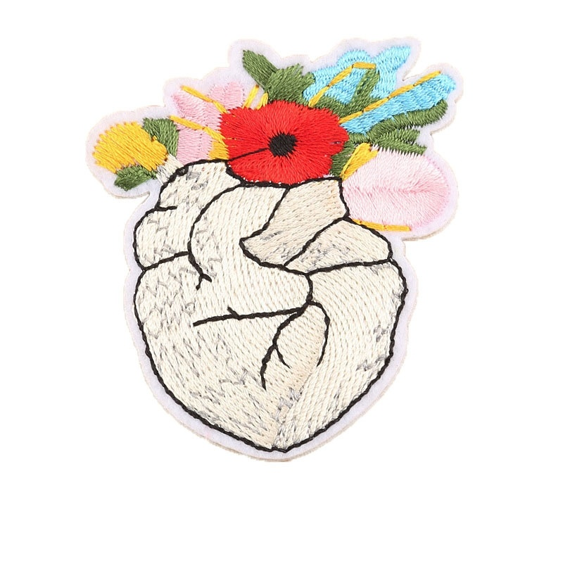 1 PIC 2.28*2.64 Inch Flowerpots Embroidery Patches ADHESIVE Tapes T-Shirts Hats Decorations Holes Applique And Accessories