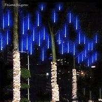 Multi-color 30 cm lluvia de meteoros lluvia tubos ac100-240v LED Navidad Garden Party Navidad cadena Navidad luces al aire libre