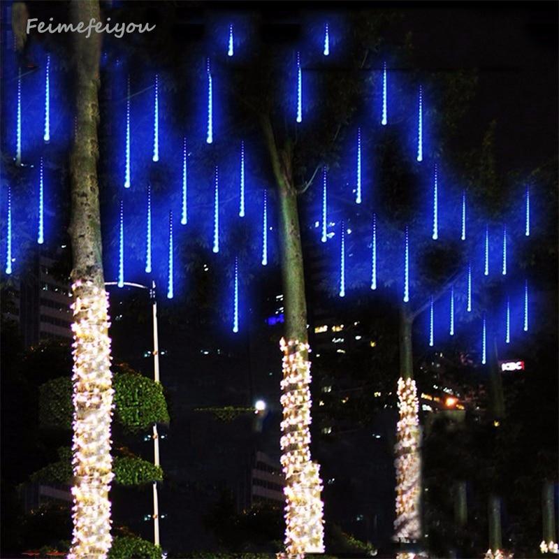 Multi-color 30CM Meteor Shower Rain Tubes AC100-240V LED Christmas Lights Party Garden Xmas String christmas lights outdoor