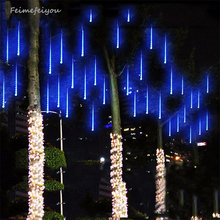 Multi color 30CM Meteor Shower Rain Tubes AC100 240V LED Christmas Lights Party Garden Xmas String