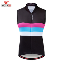 WOSAWE Summer Sleeveless Running Vest Breathable Cycling Reflective Tape Gilet Mesh Fabric Ropa Ciclismo MTB Bike Bicycle