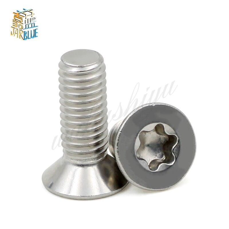 (50 шт./лот) SUS304 M2, M2.5, M3, M4 из нержавеющей стали с плоской головкой torx машина безопасности винт